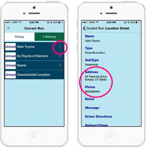 Finding Delivery Addresses in the Mobile App